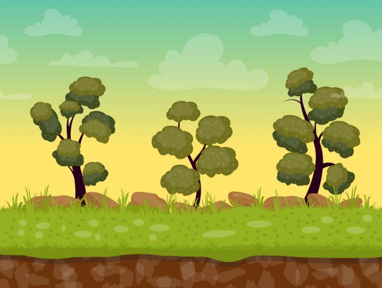 Green Landscape Illustration