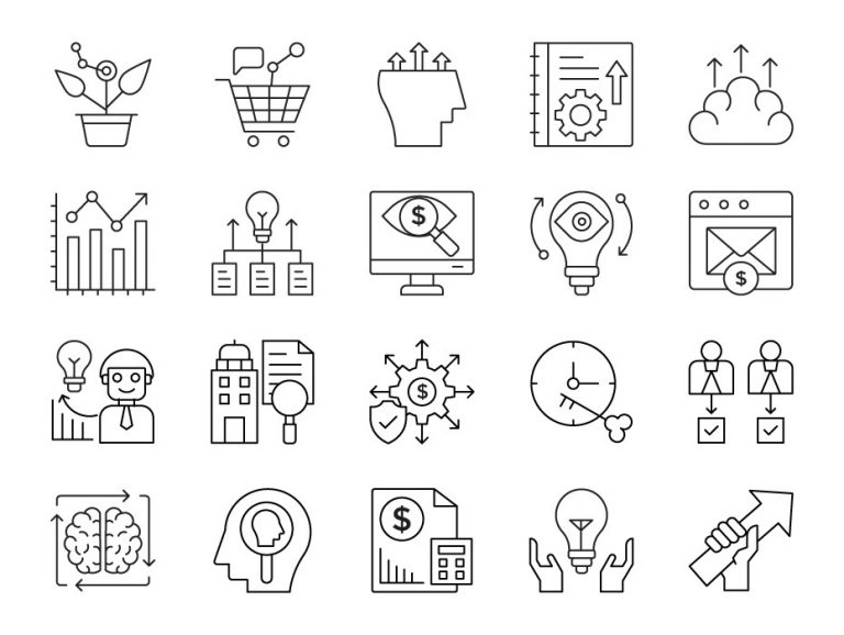 Growth Hacking Icons