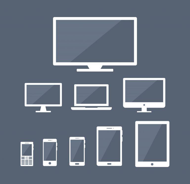 Flat Display Screens Set