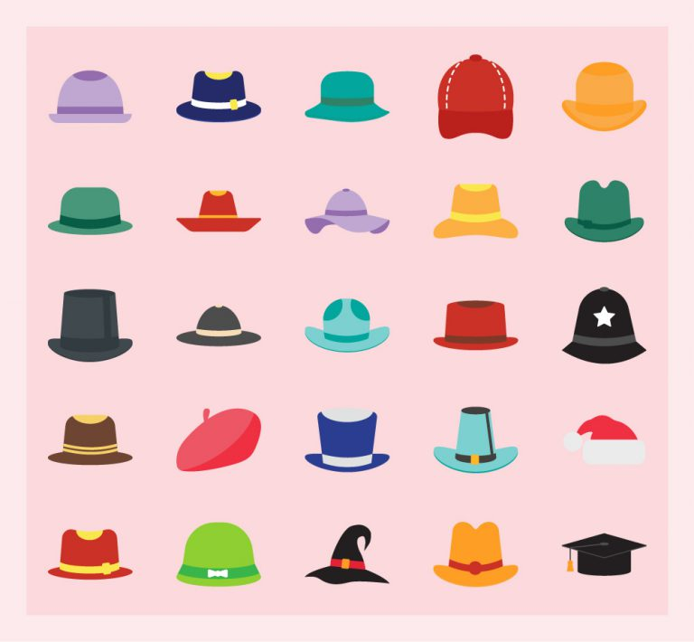 Hats Free Vector Art