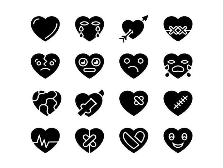 Heart Glyph Icons