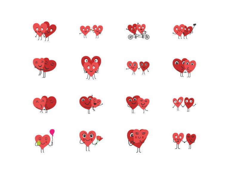 Hearts Cartoon Characters