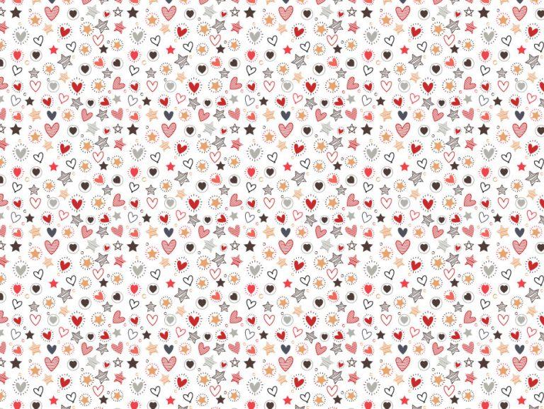 Hearts Confetti Pattern