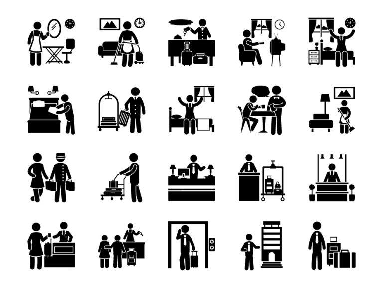 Hotel Glyph Icons