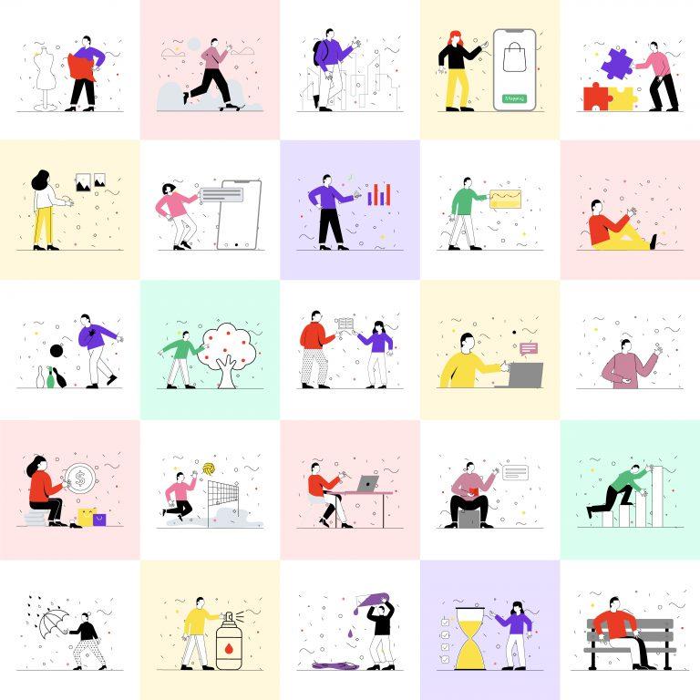 Human Activities Vectors Pack