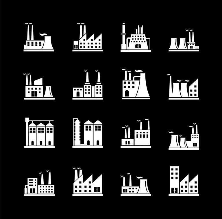 Industrial Factories Free Vector Art