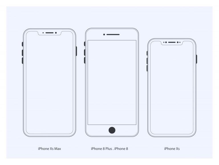 Iphone Mockup Vector