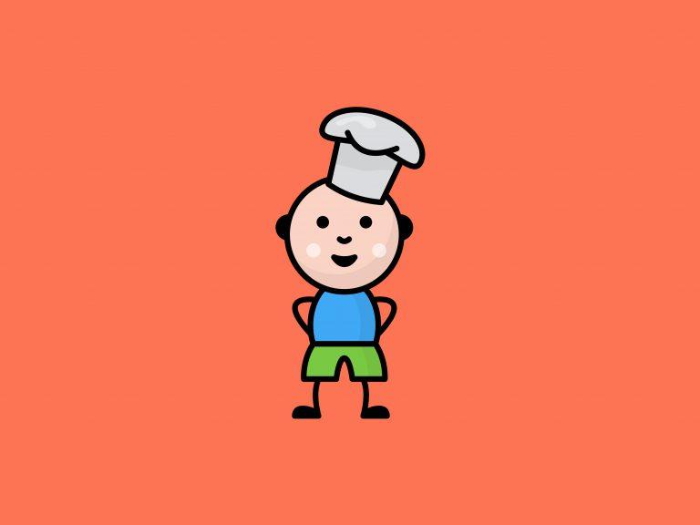 Kids Cartoon Chef Free Vector Download