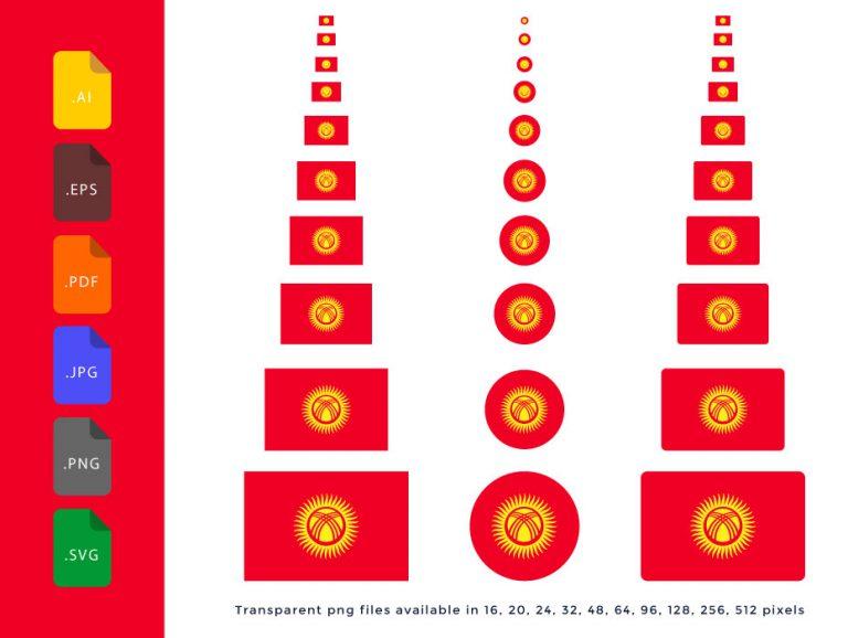 Kyrgyzstan-Flag