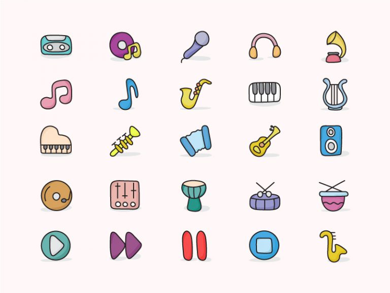 Music Icons Doodles Image