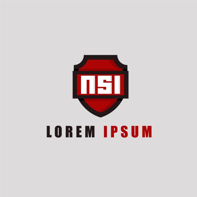 NSI Logo Design Free Vector