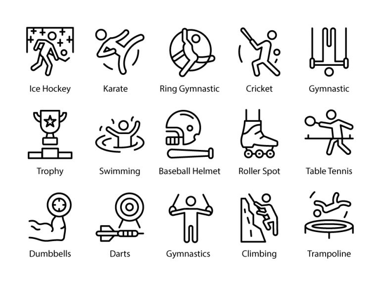 Olympics Line Icon Set