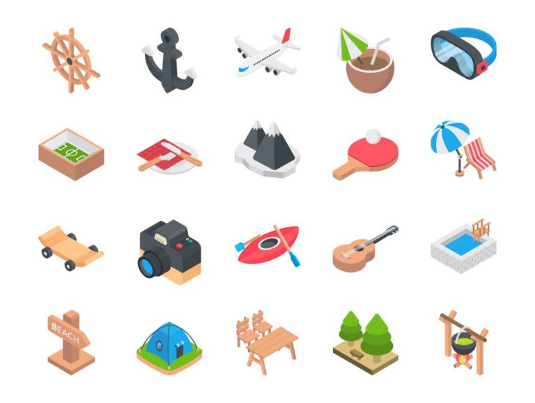 Outdoor Recreation Icons