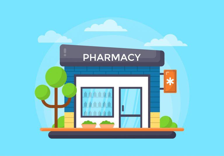 Pharmacy Shop Free Vector Art
