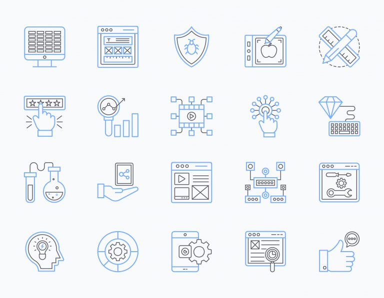 Pack of Web Design Icons