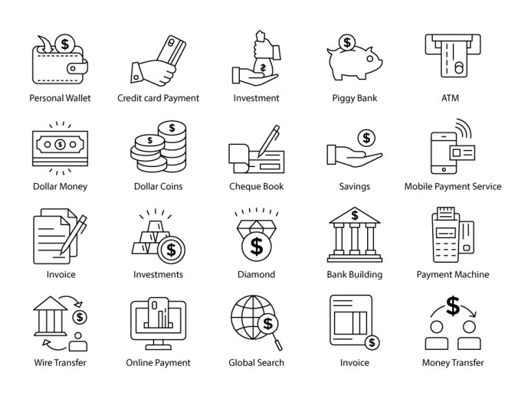 Payments Line Icons