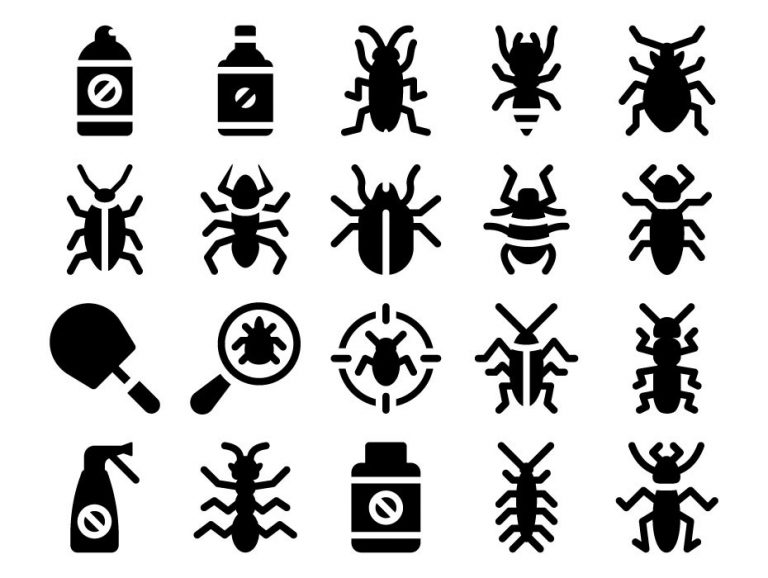 Pest Control Icon Set