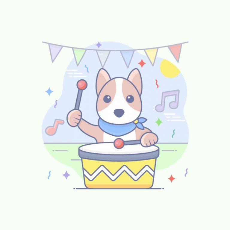 Pet Party Free Vector Art