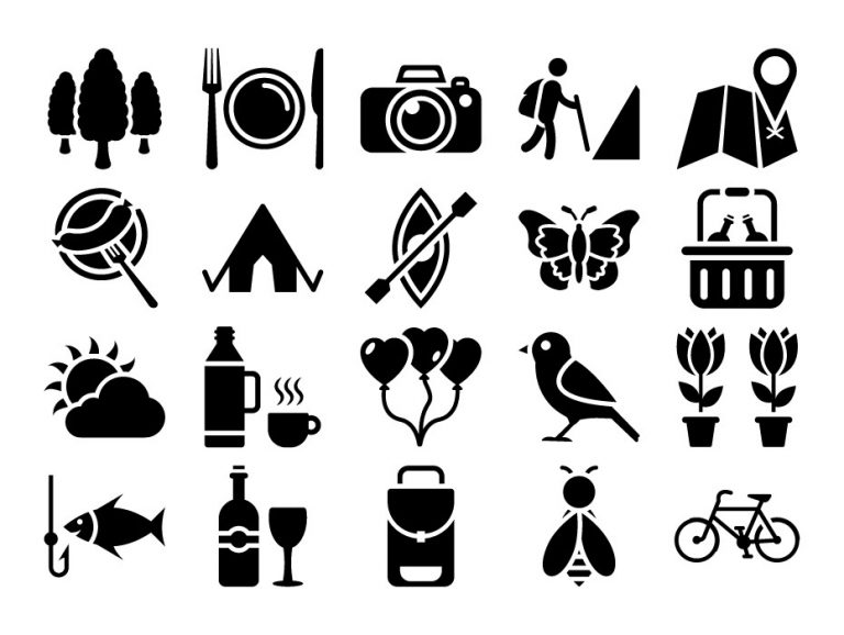 Picnic Glyph Icons