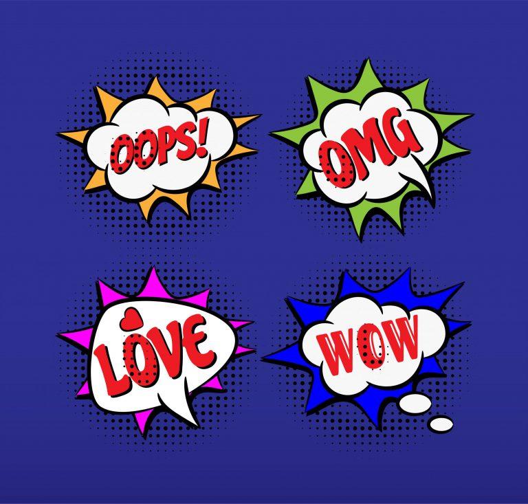 Set of Comic Speech Bubble Icons