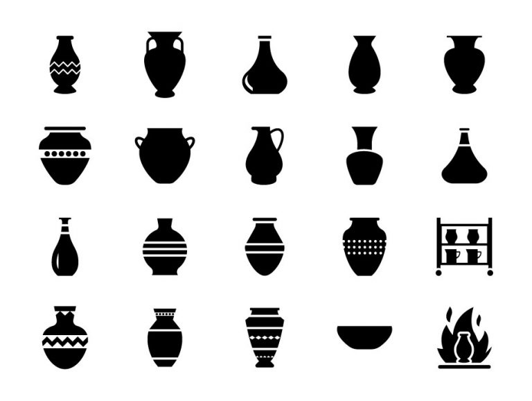 Pottery Glyph Icons