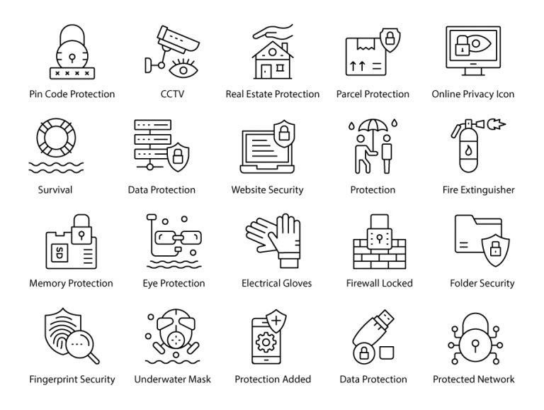 Protection Line Icons