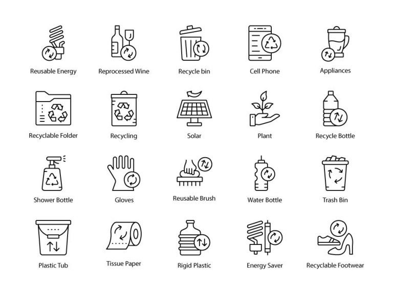 Recycling Icons Free