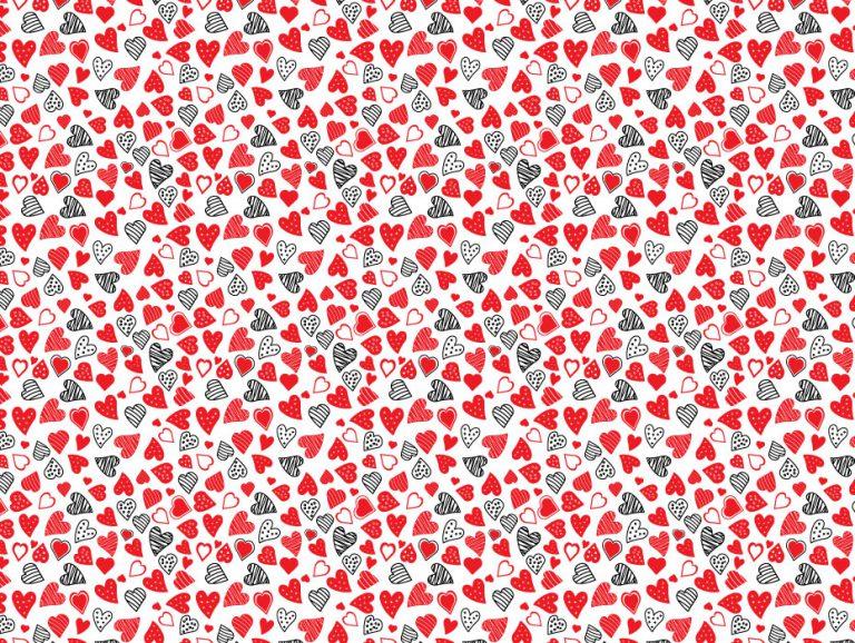 Red Confetti Hearts