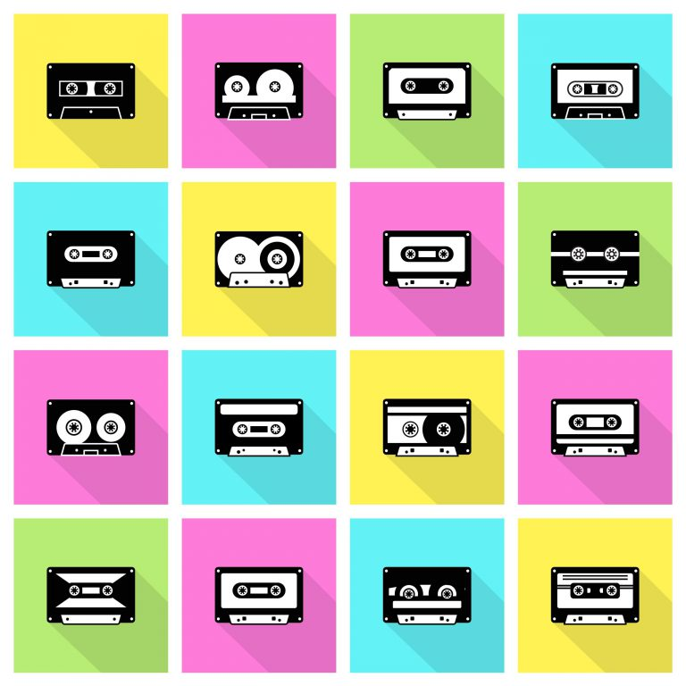 Retro Cassette Tape Free Icons