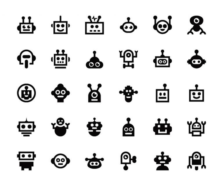 30 Robot Icons