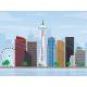 Free Seattle City Day Skyline Illustration