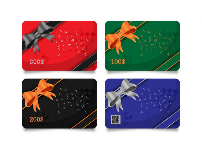 Shopping Gift Cards Template Set