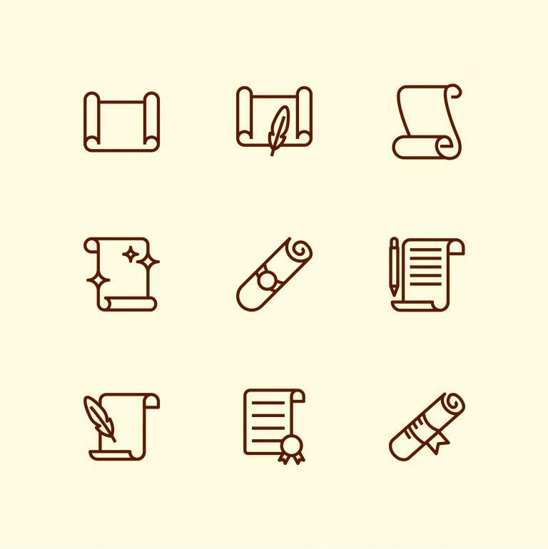 Paper Scrolls Vector Download