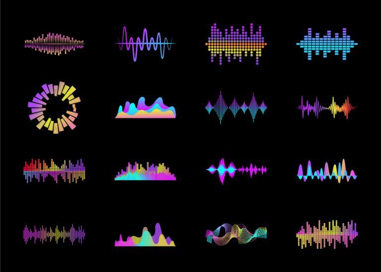 Audio Waves Free Vector Art