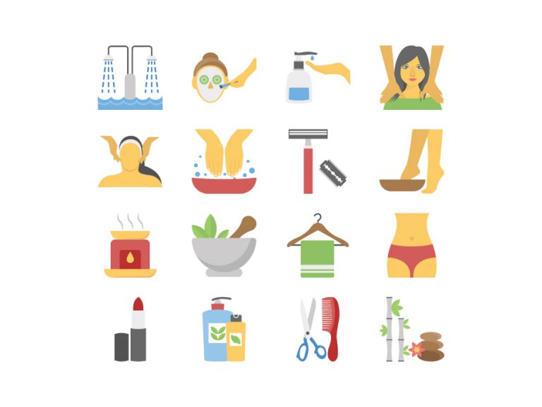 Spa Treatment Icon Pack