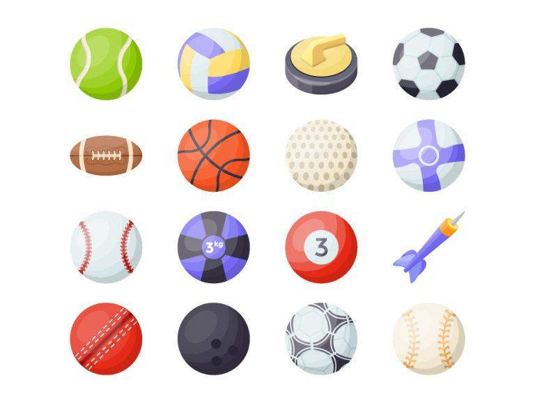 Sports Balls Flat Icons