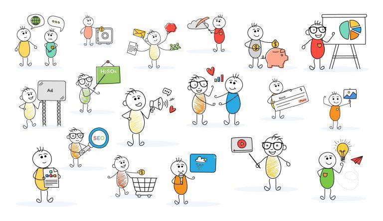 Stick Figure Illustrations Download