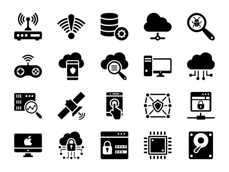 Technology Glyph Icons
