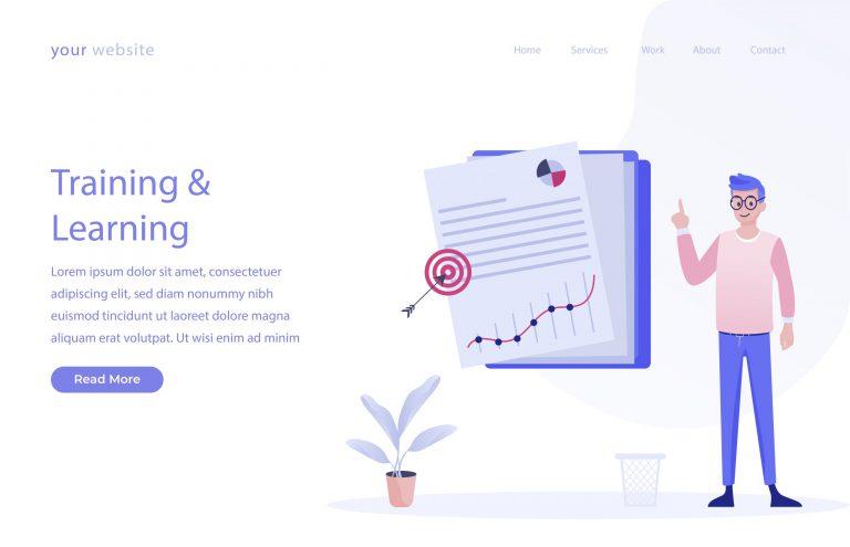 Training & Learning Vector Illustration