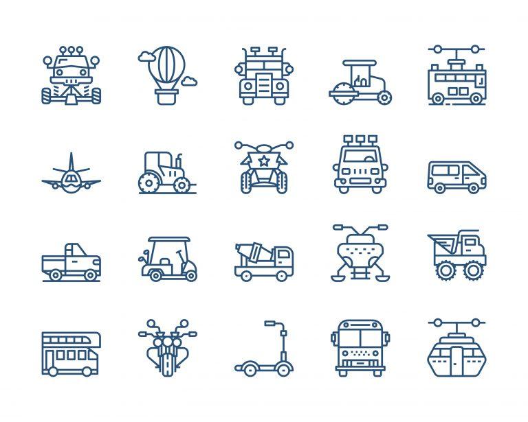 Transportation Vectors Download