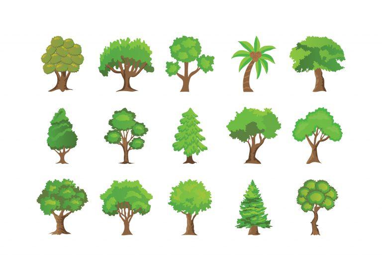 Creative Tree Icons Set
