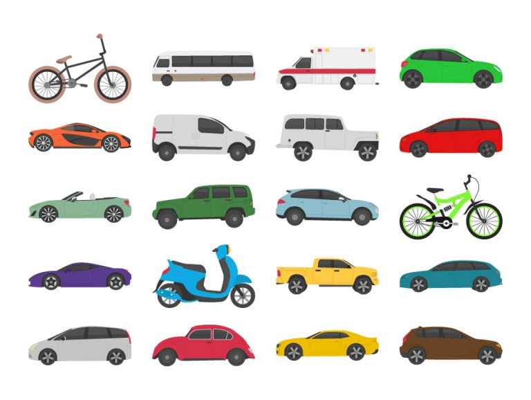 Vehicle Transport Flat Icons