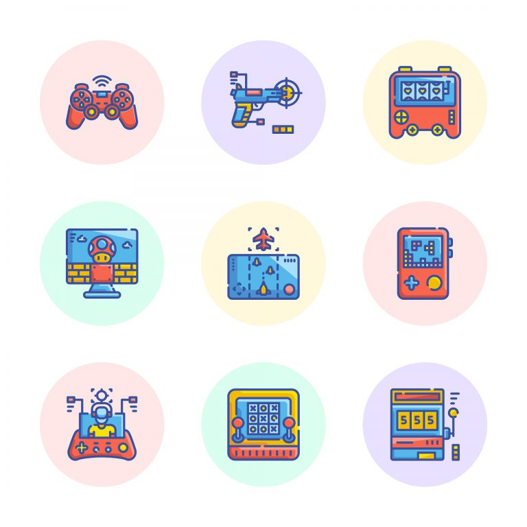 Free Vector of Video Games