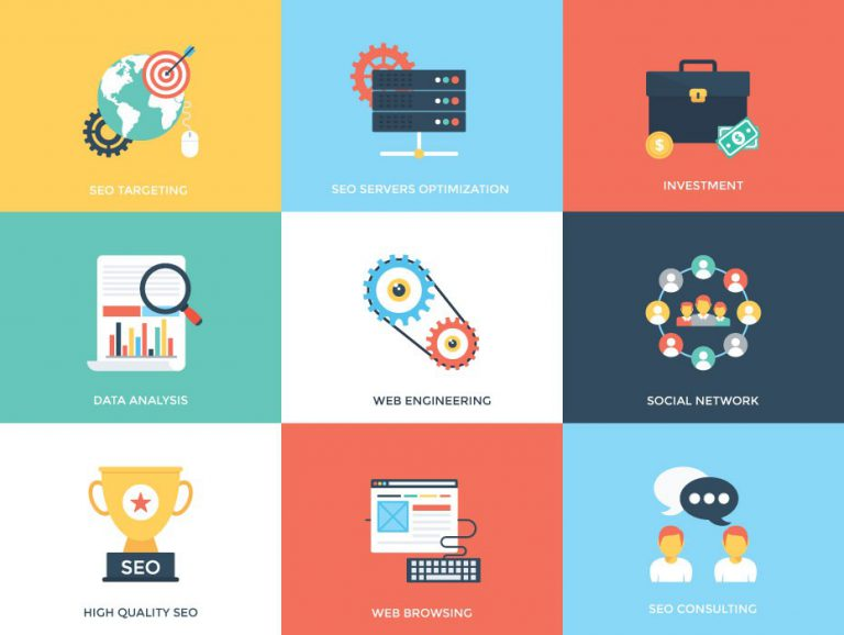 Web and Seo Free Flat Icons