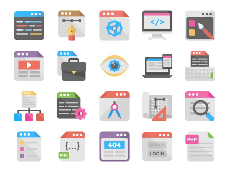Web Design Flat Icons