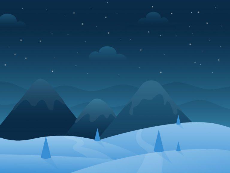 Winter Night Art