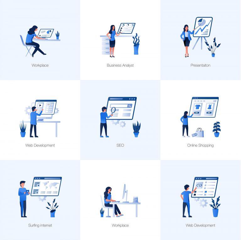 Work Management Vector Illustrations