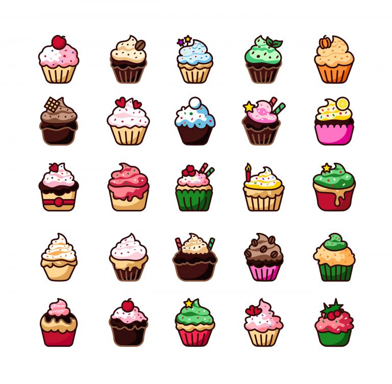 Yummy Cupcakes Vector Download