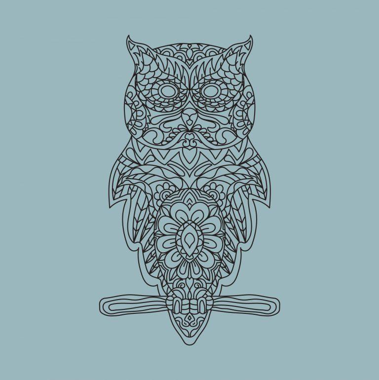 Decorative Owl Free Doodle Art
