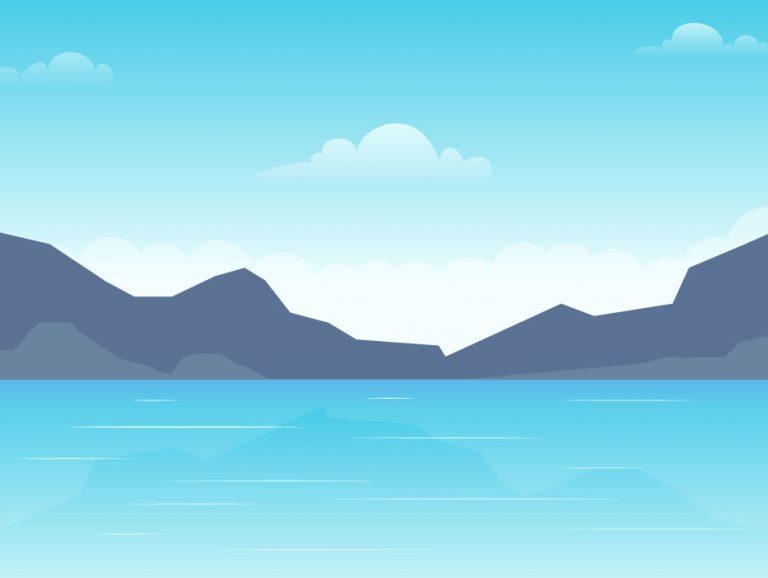 Beach View Illustration